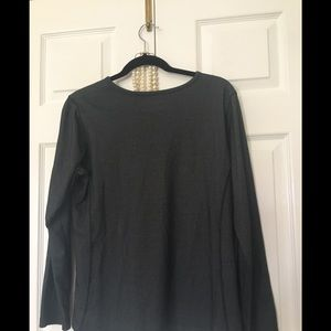 Woolrich top Large dark gray long sleeves stylish